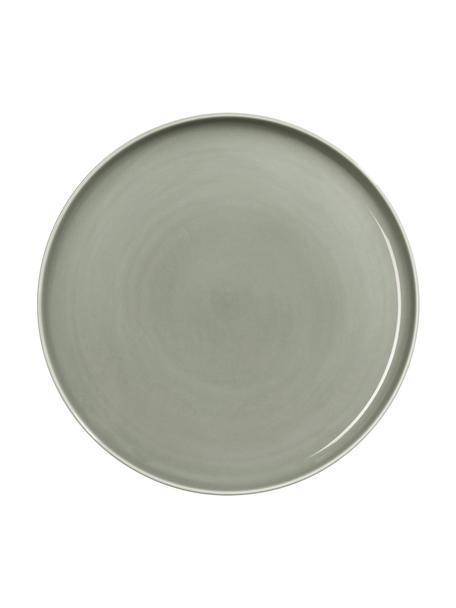 Piatto piano in porcellana grigia lucida Kolibri 6 pz, Porcellana, Grigio, Ø 27 cm