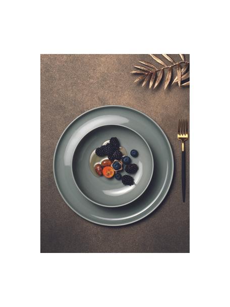 Platos llanos de porcelana Kolibri, 6uds., Porcelana, Gris, Ø 27 cm