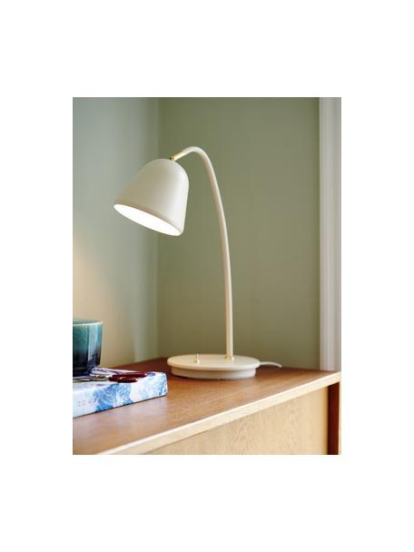 Lampada da tavolo beige Fleur, Paralume: metallo rivestito, Base della lampada: metallo rivestito, Decorazione: metallo, Beige, Larg. 20 x Alt. 49 cm