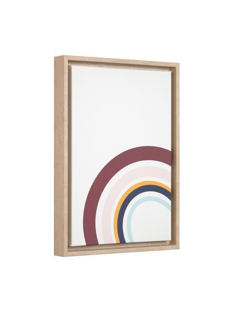 Ingelijste digitale print Keila, Lijst: hout, Afbeelding: canvas, MDF, Bruin, multicolour, 30 x 42 cm