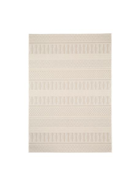 Alfombra de interior/exterior Naoto, estilo étnico, 100%polipropileno, Crema, beige claro, An 120 x L 170 cm (Tamaño S)