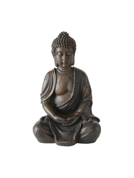 Decoratief object Buddha, Kunststof, Mangohoutkleurig, 19 x 30 cm