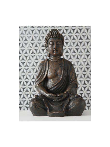 Deko-Objekt Buddha, Kunststoff, Dunkelbraun, 19 x 30 cm