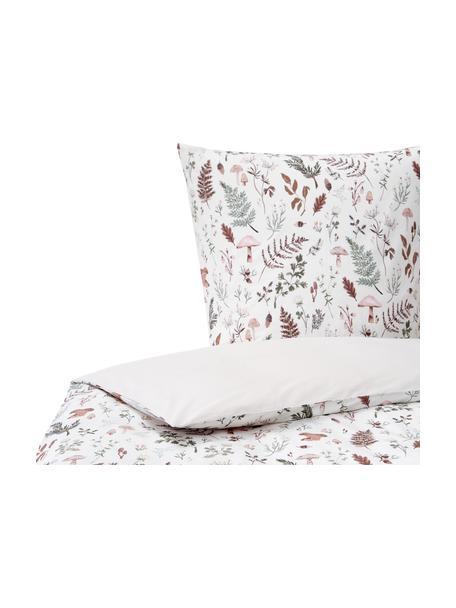 Pościel z perkalu organicznego Mushroom od Candice Gray, Wielobarwny, 135 x 200 cm + 1 poduszka 80 x 80 cm