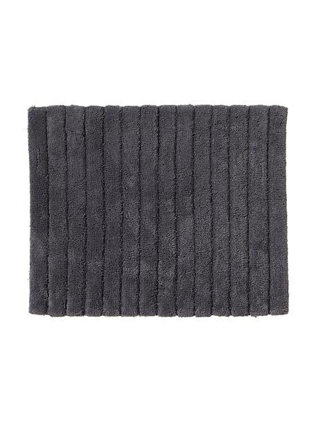 Tappeto bagno morbido grigio chiaro Board, Cotone, qualità pesante 1900g/m², Grigio grafite, Larg. 50 x Lung. 60 cm