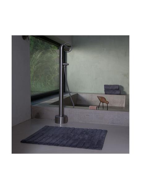 Flauschiger Badvorleger Board, Baumwolle, schwere Qualität, 1900 g/m², Graphitgrau, 50 x 60 cm