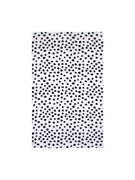 Strandtuch Dalmatiner, 100% Baumwolle, leichte Qualität 350 g/m², Schwarz,Weiß, 90 x 160 cm