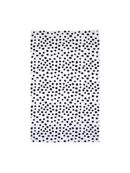 Telo mare Dalmatiner, 100% cotone, qualità leggera 350g/m², Nero, bianco, Larg. 90 x Lung. 160 cm