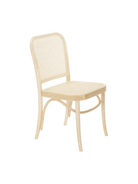 Krzesło z plecionką wiedeńską  Franz, Stelaż: lite drewno bukowe, Jasne drewno, S 48 x W 89 cm