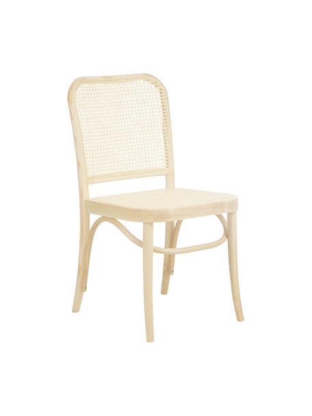 Krzesło z drewna z plecionką wiedeńską  Franz, Stelaż: lite drewno bukowe, Jasne drewno, S 48 x W 89 cm
