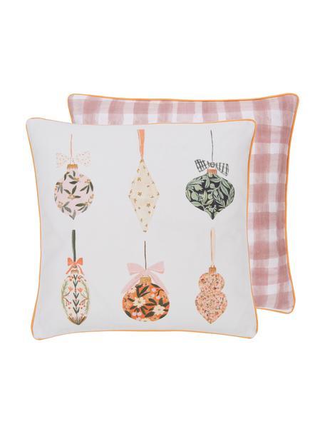 Dwustronna poszewka na poduszkę Christmas Balls od Candice Gray, 100% bawełna, certyfikat GOTS, Wielobarwny, S 45 x D 45 cm