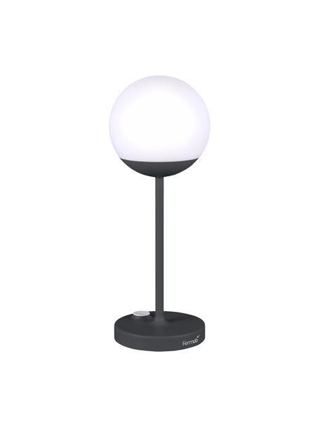 Mobile Outdoor LED-Tischleuchte Mooon, Lampenschirm: Polyethylen, Weiß, Anthrazit, Ø 14 x H 41 cm