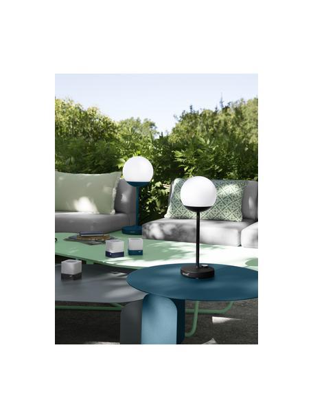 Lámpara de mesa regulable para exterior Mooon, portátil, Pantalla: polietileno, Blanco, gris antracita, Ø 14 x Al 41 cm
