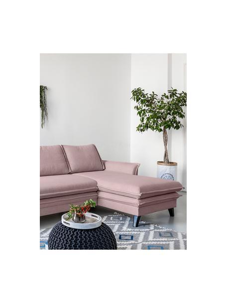Sofá cama rinconero Charming Charlie, con espacio de almacenamiento, Tapizado: 100%poliéster tacto de l, Estructura: madera, aglomerado, Rosa palo, An 228 x F 150 cm