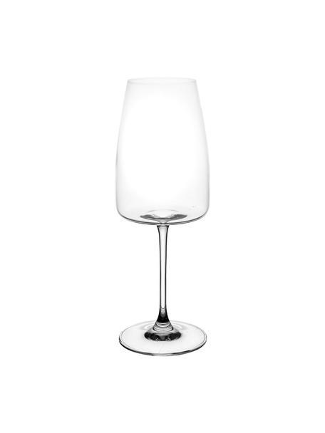 Kristallen witte wijnglazen Moinet, 6 stuks, Kristalglas, Transparant, Ø 8 x H 22 cm