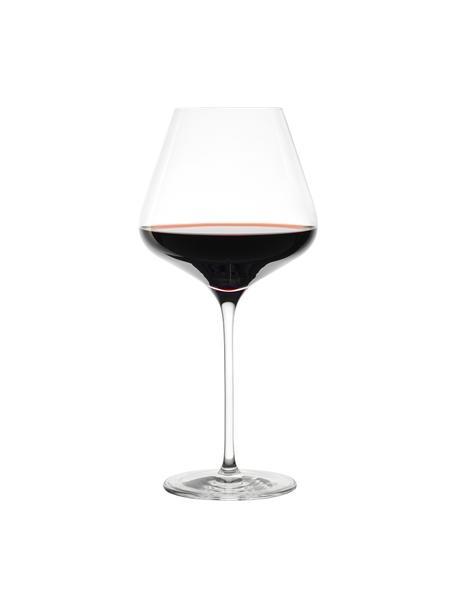 Kristallen rode wijnglazenset Quatrophil, 6-delig, Kristalglas, Transparant, Ø 12 x H 25 cm