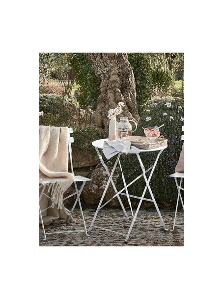 Komplet mebli ogrodowych Chelsea, 3 elem., Metal malowany proszkowo, Biały, Komplet z różnymi rozmiarami