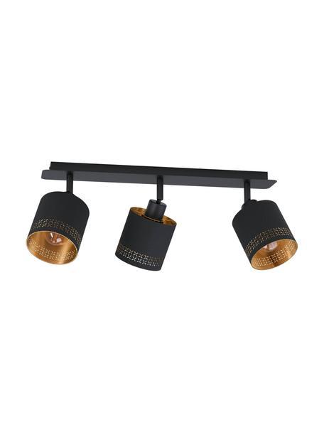 Faretti da soffitto Esteperra, Struttura: acciaio rivestito, Nero, dorato, Larg. 58 x Alt. 17 cm