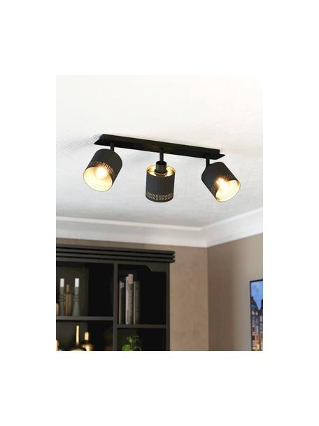 Plafondlamp Esteperra, Zwart, goudkleurig, 58 x 17 cm