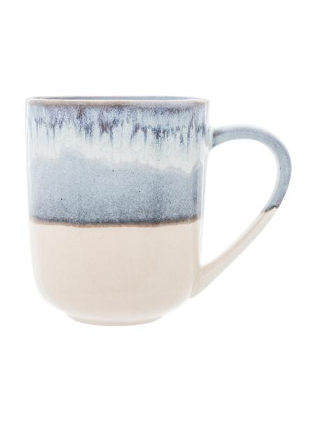 Tazas originales Inspiration, 2uds., Gres, Azul, beige claro, Ø 9 x Al 11 cm