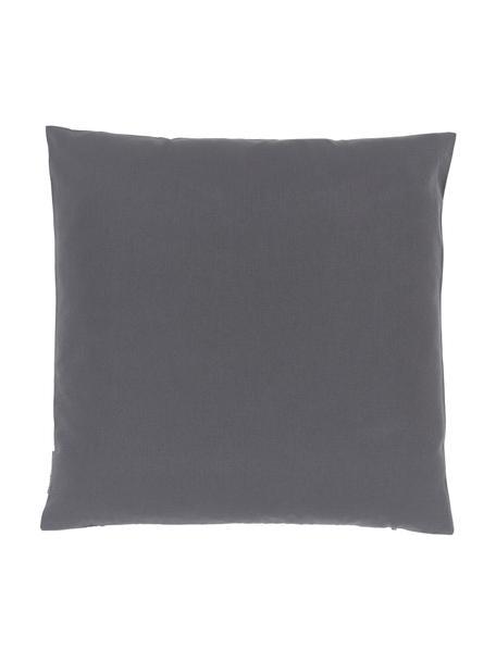Outdoor kussenhoes Blopp in antraciet, Dralon (100% polyacryl), Antraciet, 45 x 45 cm