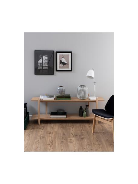 Lowboard Asbaek aus Holz mit 2 Ablageflächen, Mitteldichte Holzfaserplatte (MDF) mit Eichenholzfurnier, Braun, 150 x 55 cm