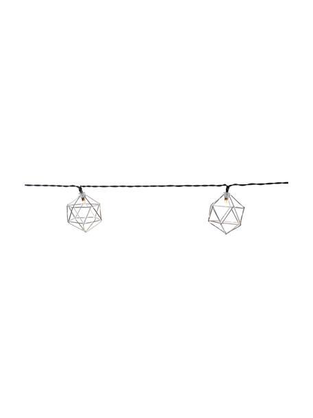 Ghirlanda a LED Edge, 525 cm, 10 lampioni, Lanterne: metallo rivestito, Cromo, Lung. 525 cm