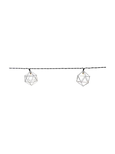 LED-Lichterkette Edge, 525 cm, 10 Lampions, Lampions: Metall, beschichtet, Chrom, L 525 cm