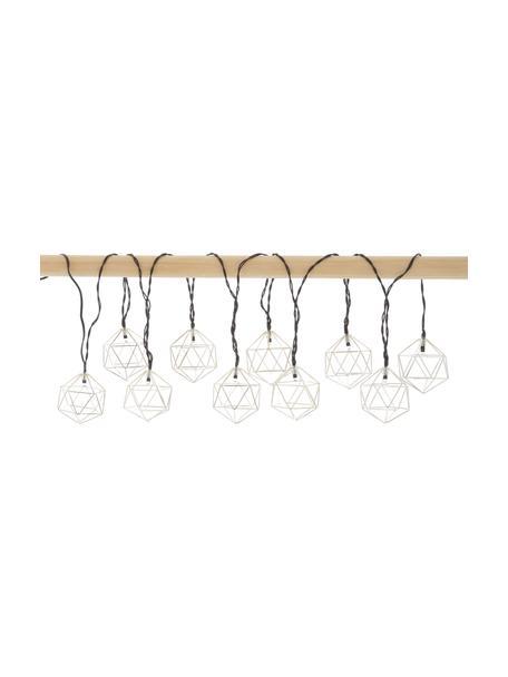 Guirnalda de luces LED Edge, 525cm, 10 luces, Linternas: metal recubierto, Cable: plástico, Cromo, L 525 cm