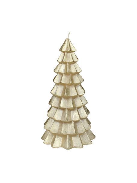 Kerze Christmas Tree H 20 cm, Paraffinwachs, Goldfarben, Ø 10 x H 20 cm