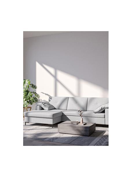 Sofa narożna z funkcją spania i miejscem do przechowywania Moor, Tapicerka: 100% poliester z systemem, Stelaż: drewno liściaste, drewno , Nogi: drewno lakierowane Dzięki, Jasny szary, S 260 x G 162 cm