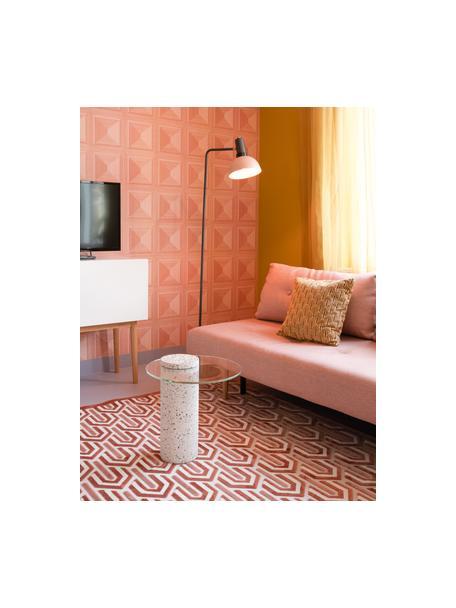 Tappeto retrò con motivo a rilievo Beverly, Retro: lattice, Rosa, rosa cipria, beige chiaro, Larg. 170 x Lung. 240 cm