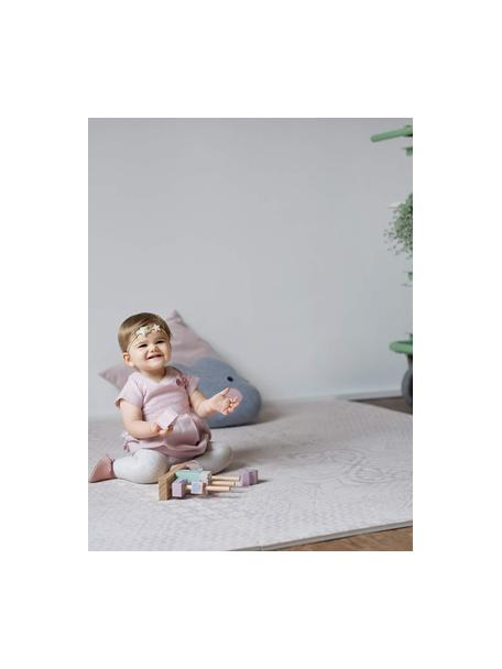 Set tappetino da gioco espandibile Tiles 18 pz, Schiuma (EVAC), priva di sostanze inquinanti, Beige, Larg. 120 x Lung. 180 cm