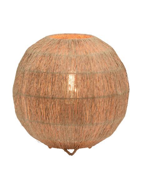 Lámpara de mesa pequeña de yute Iguazú, Pantalla: yute, Cable: cubierto en tela, Beige, Ø 25 x Al 25 cm