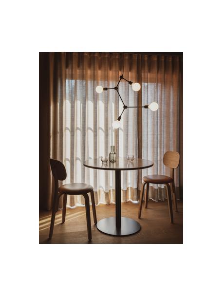 Hanglamp Franklin zonder ophanging, Gepoedercoat staal, Zwart, 56 x 56 cm