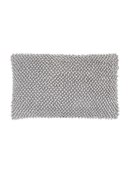 Poszewka na poduszkę ze strukturalną powierzchnią Indi, 100% bawełna, Jasny szary, S 30 x D 50 cm