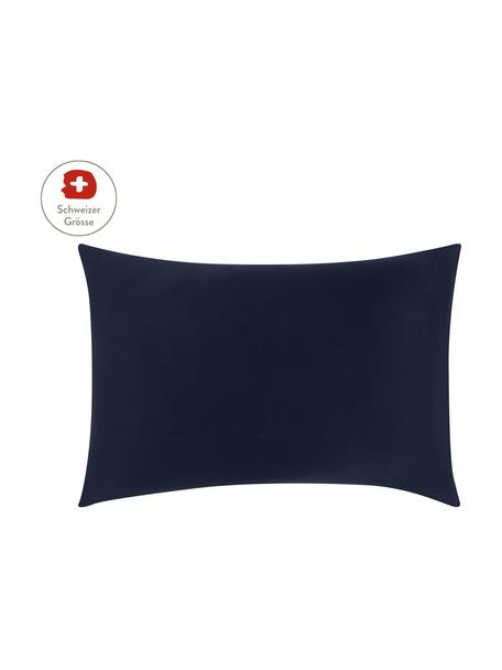 Baumwollsatin-Kissenbezug Comfort in Dunkelblau, 50 x 70 cm, Webart: Satin, leicht glänzend Fa, Dunkelblau, 50 x 70 cm