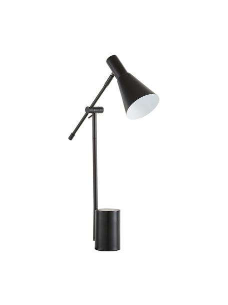 Lampada da scrivania stile nordico Sia, Paralume: metallo verniciato a polv, Base della lampada: metallo verniciato a polv, Nero, Larg. 13 x Alt. 63 cm