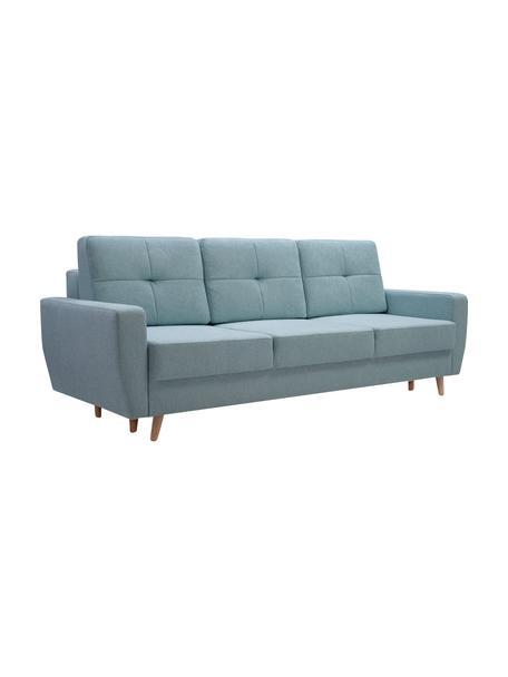 Sofá cama Bueno (3 plazas), con espacio de almacenamiento, Tapizado: 100%poliéster, Azul, An 231 x F 92 cm