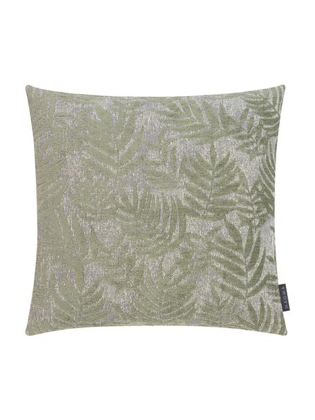 Kussenhoes Palma met varenblad motief, Weeftechniek: jacquard, Groen, 40 x 40 cm