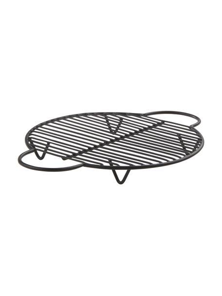 Podstawka pod gorące naczynia Kendra, Metal powlekany, Czarny, D 25 x S 20 cm