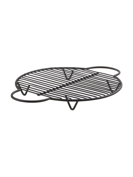Topfuntersetzer Kendra, Metall, beschichtet, Schwarz, 20 x 25 cm