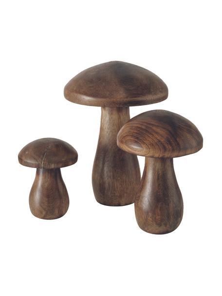 Deko-Objekt-Set Terjol, 3-tlg., Holz, Braun, Set mit verschiedenen Größen