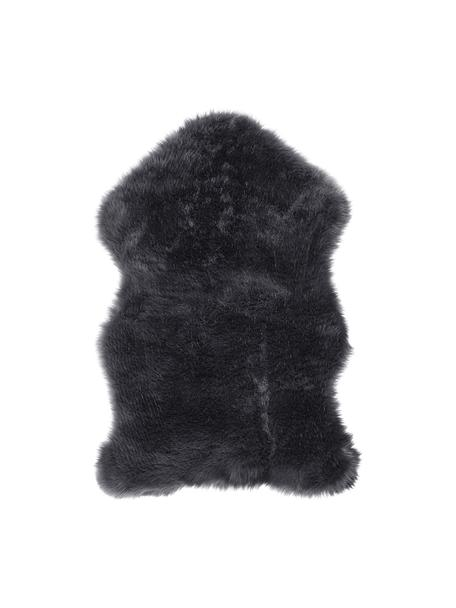 Piel sintética Mathilde, Parte delantera: 65%acrílico, 35%poliést, Parte trasera: 100%poliéster, Gris oscuro, An 60 x L 90 cm
