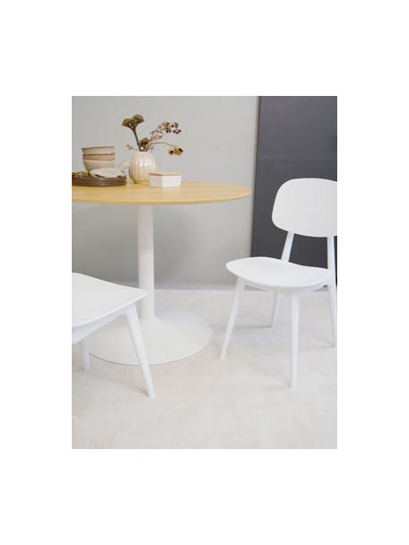 Sedia di design Smilla 2 pz, Seduta: materiale sintetico, Gambe: metallo verniciato a polv, Bianco opaco, Larg. 43 x Prof. 49 cm