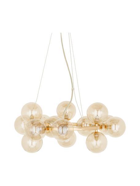 Hanglamp met ronde glazen bollen Splendor, Koperkleurig, Ø 58  x H 22 cm