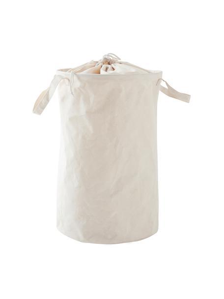 Wäschekorb Amore, Kunstfaser, Weiß, Ø 35 x H 55 cm