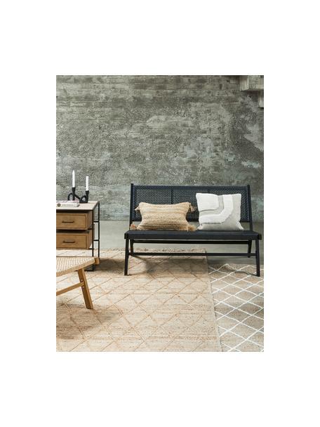 Poszewka na poduszkę z juty Jerome, Beżowy, kremowobiały, S 30 x D 50 cm