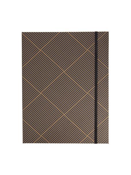 Portadocumenti Paulina, Dorato, grigio scuro, Larg. 23 x Alt. 32 cm