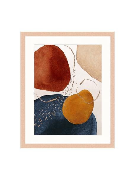 Impresión digital enmarcada Terracota And Gold, Multicolor, An 43 x Al 53 cm